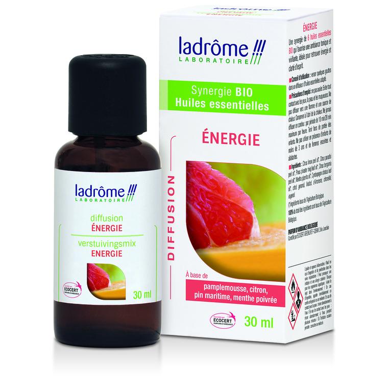 Huile essentielle bio à diffuser énergie Ladrôme - 30 ml 250569