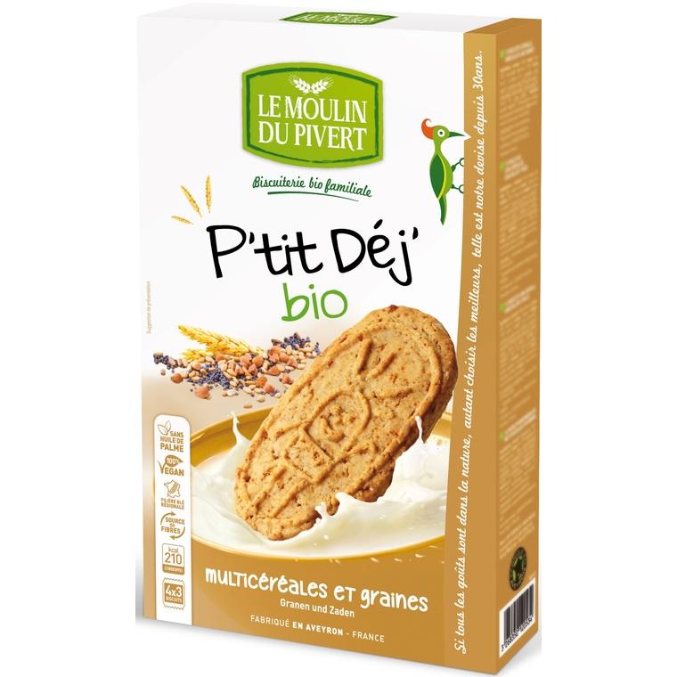 Biscuit P'tit Déj Multicéréales et Graines bio - 190 gr 253653