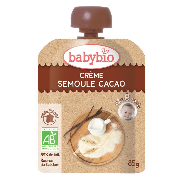 Gourdes de Crème Semoule et Cacao bio dès 8 mois - 4 x 85 gr 255621