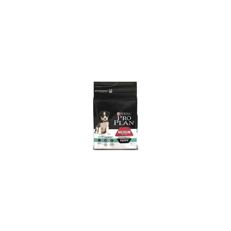 Croquettes pour chiot taille moyenne digestion sensible Pro plan 3 kg 257605