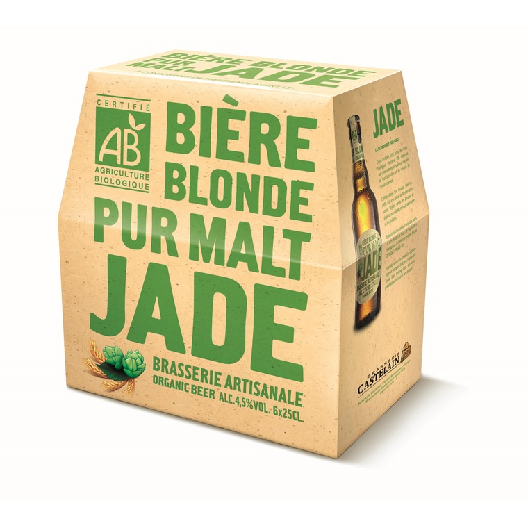 Bière blonde pur malt pack 6 x 25 cl 258595