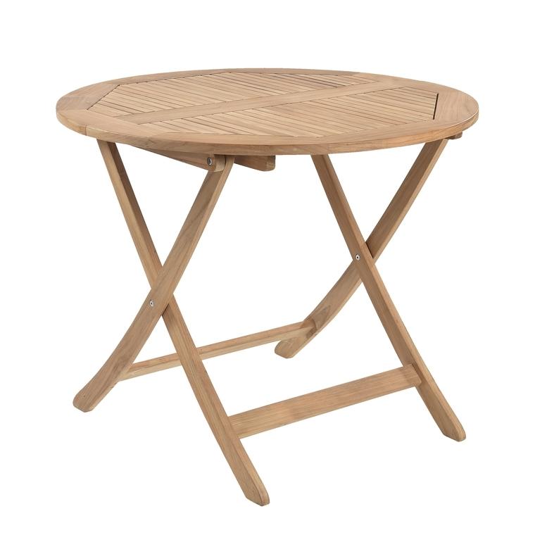 Table de jardin ronde pliante en teck massif Ø 90 cm  259663