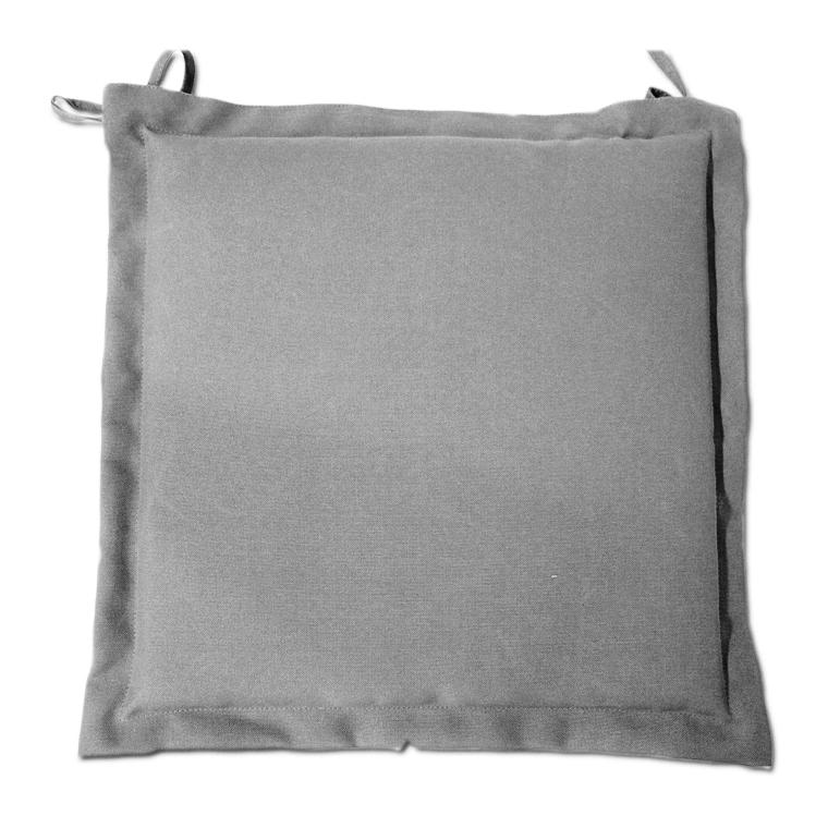 Galette d'assise grise en polyester 40 x 40 cm 259738