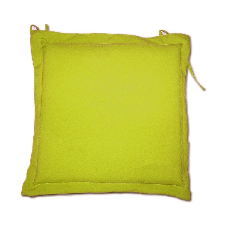 Galette d'assise jaune en polyester 40 x 40 cm 259740
