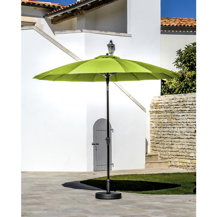 Parasol PAGODE à manivelle Ø3 m lemon 259766