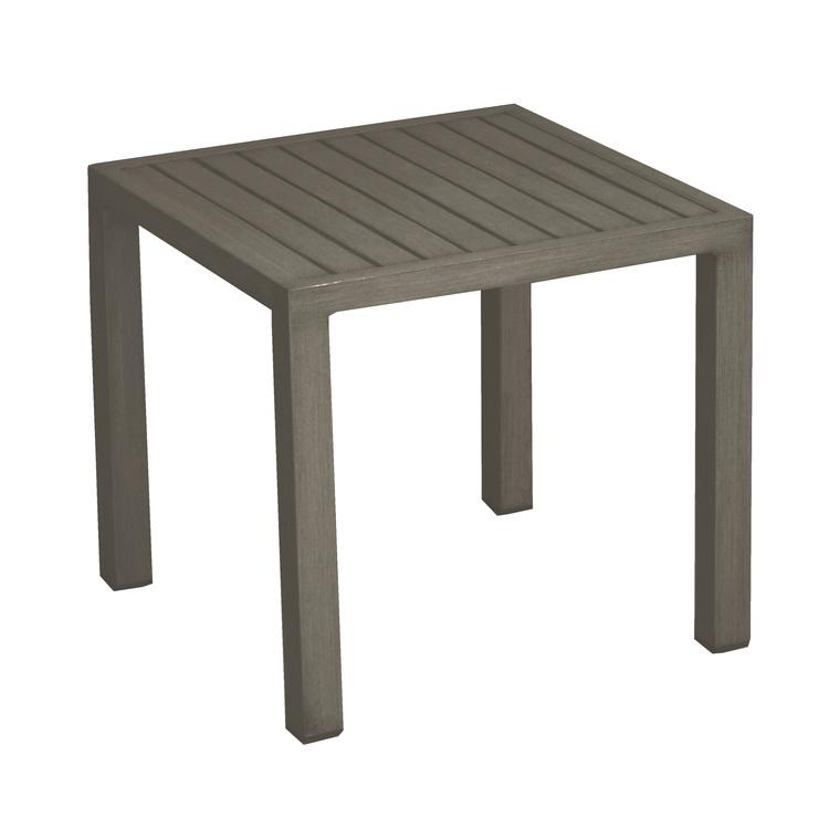 Table basse de jardin taupe en aluminium LOU 259806