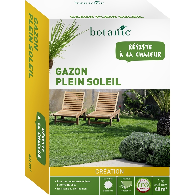 Gazon Plein Soleil Label Éco-durable 1 kg 260764