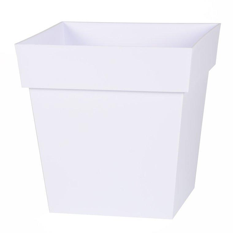 Pot carre Toscane Blanc L32 x l32 x H32 263663
