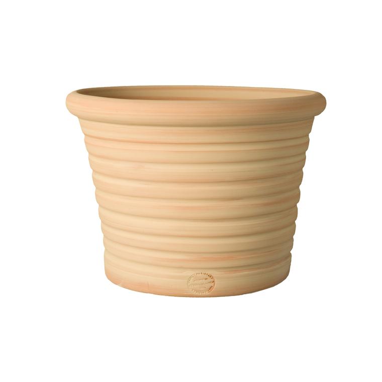Pot Cocio Liso strié en terre cuite D53x H37 263771