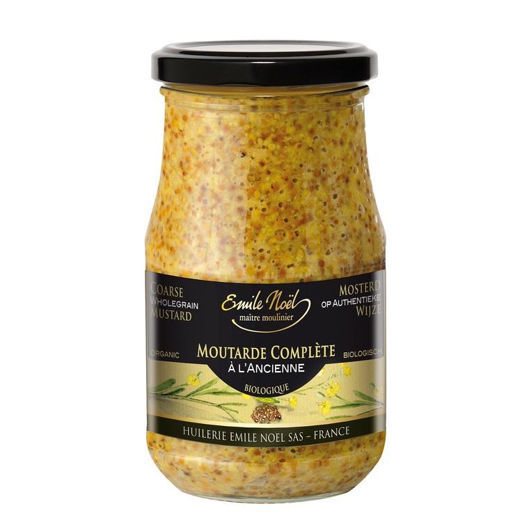 Moutarde à l'ancienne bio en pot de 200 g 274936