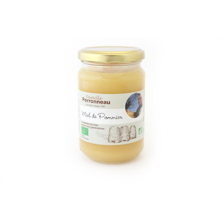Miel de pommier bio dans pot en verre de 375 g 275316