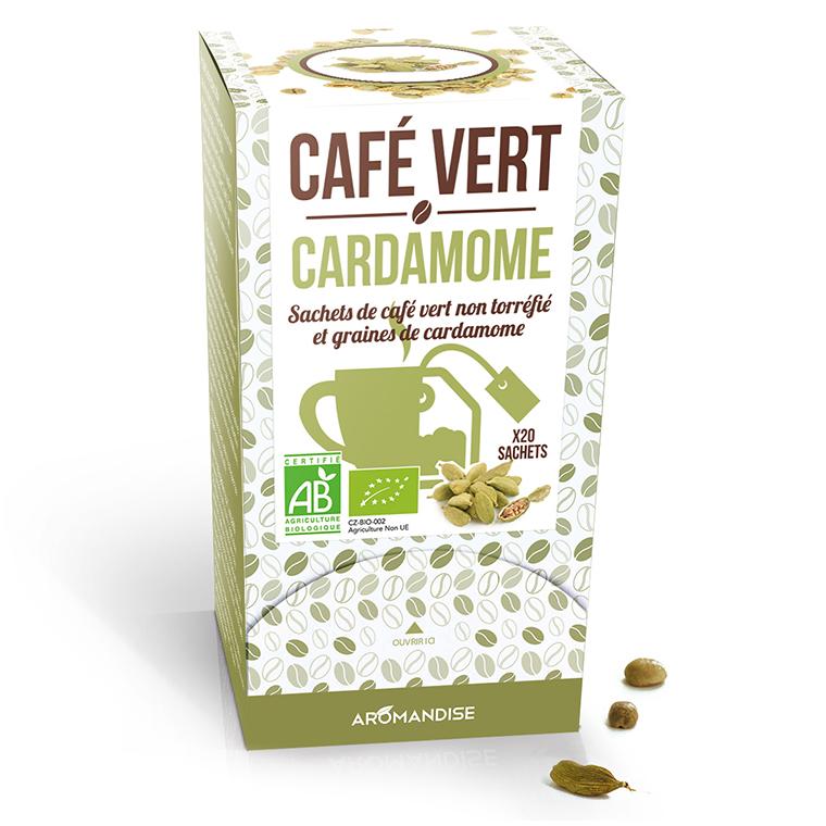 Café vert à la cardamome bio en boite de 120 g 276367
