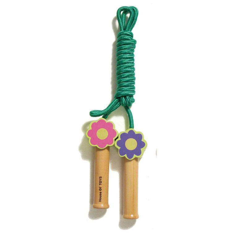 Corde à sauter en bois feuille marguerite 276969