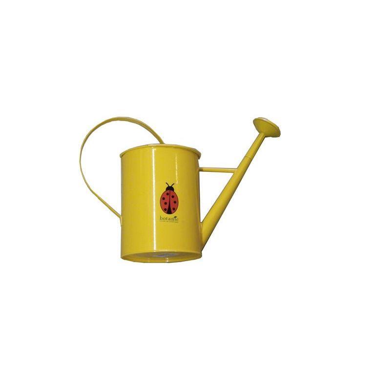 Arrosoir métallique rond avec pomme pour enfant jaune 277018