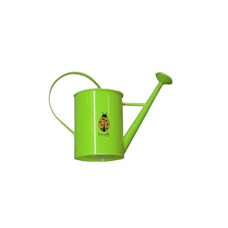 Arrosoir métallique rond avec pomme pour enfant vert 277021