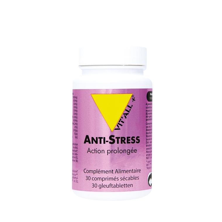 Anti-stress action prolongée vit'all + en format de 30 comprimés 279657