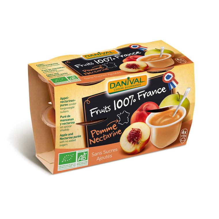 Dessert de fruit bio 100% Pomme Nectarine - 400 gr 279856