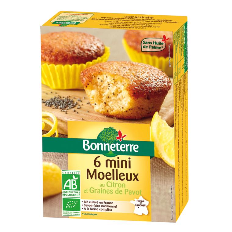 Mini moelleux au citron Bonneterre bio 200 g 282126