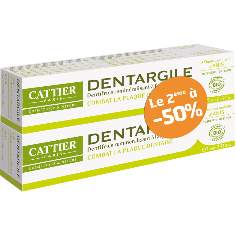 Dentifrice Dentargile anis lot de 2 x 75 ml 288278