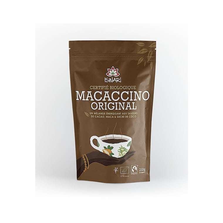Macaccino bio en paquet marron de 250 g 292226