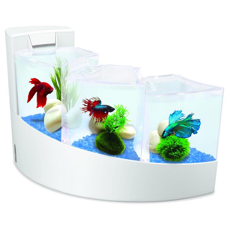 Aquarium en chute d'eau blanc 7 L 295674