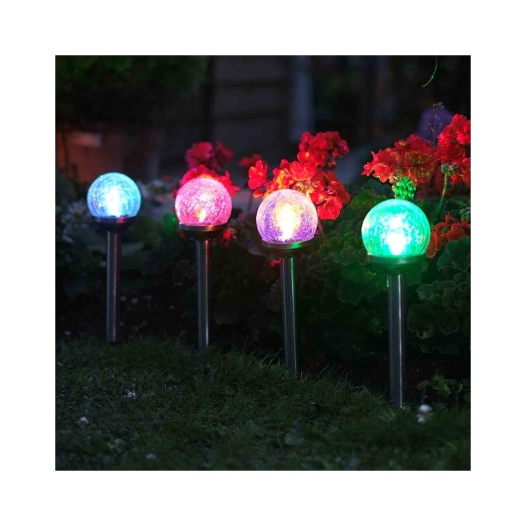 Pack de 5 balises globe solaires LED 297769
