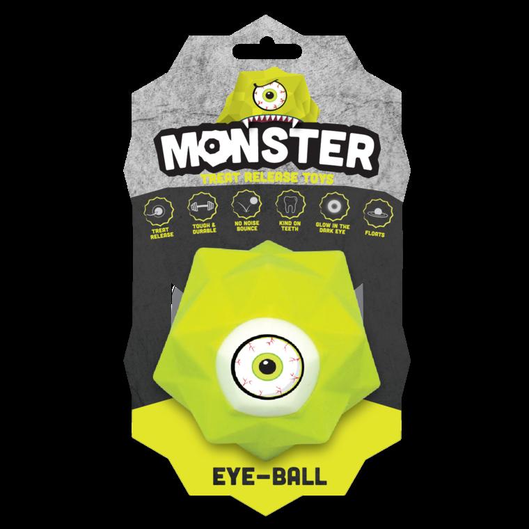 Balle pour chien Monster Ball coloris vert 9 cm 298760