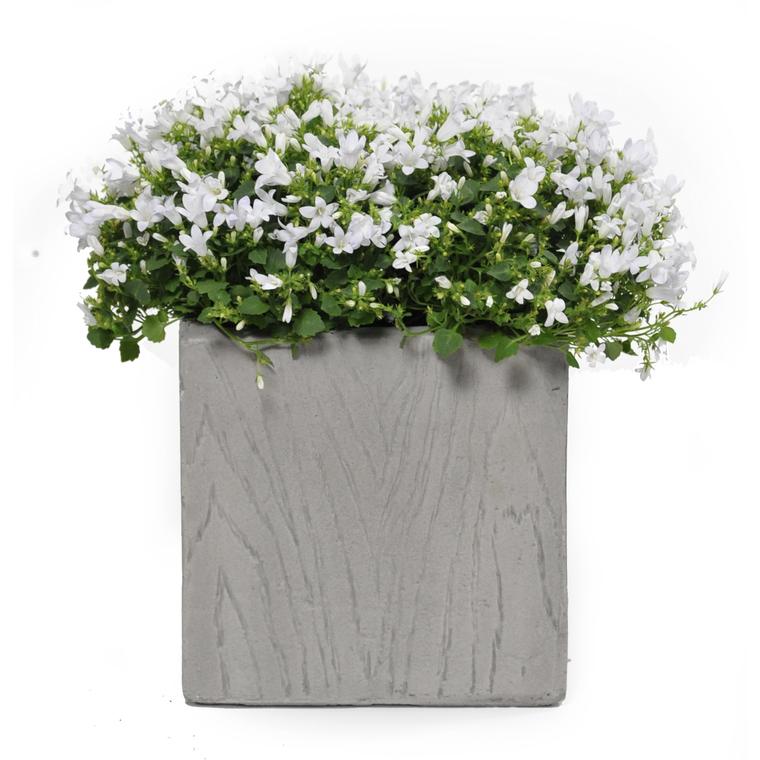 Pot carré haut LIA gris beige petit et large 12,17 L