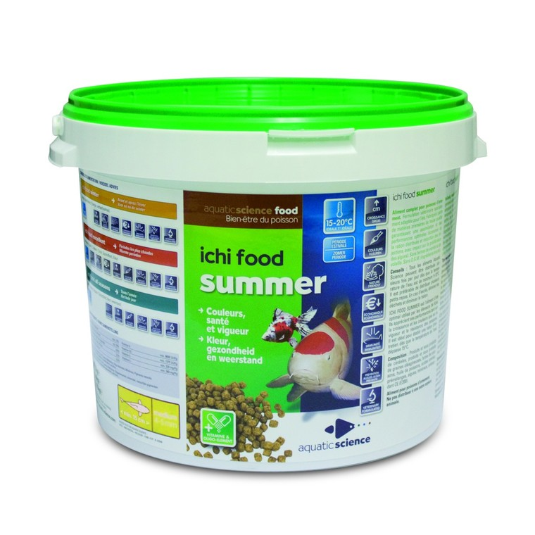 Nourriture poisson de bassin Ichi food summer mini 2 kg