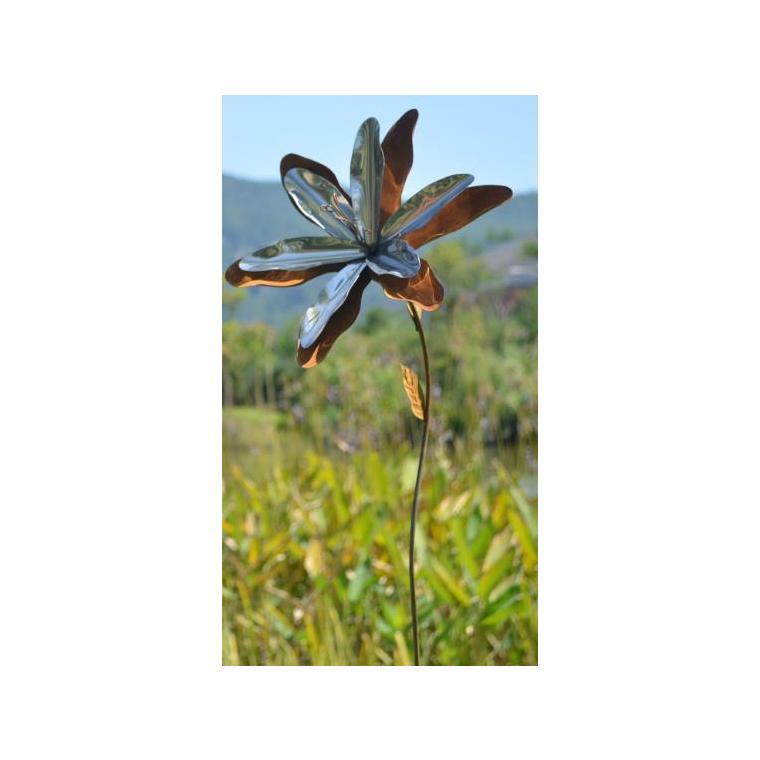Fleur sauvage sur tige Home to Garden rouille