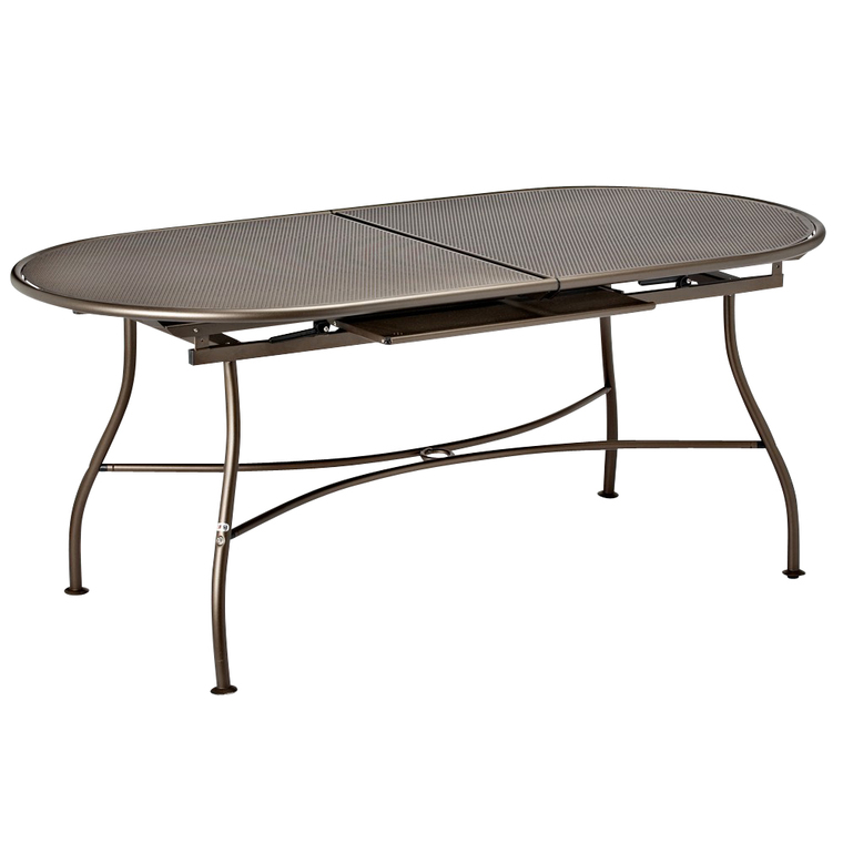Table de jardin extensible Evo EMU Marron d'Inde 180/240 x 90 x 75 cm