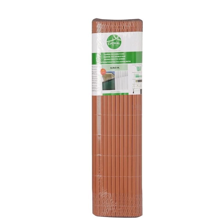 Canisse en PVC couleur teck
