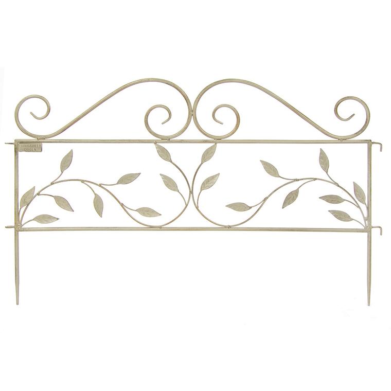 Treillis décoratif en métal beige 105 x 115 cm
