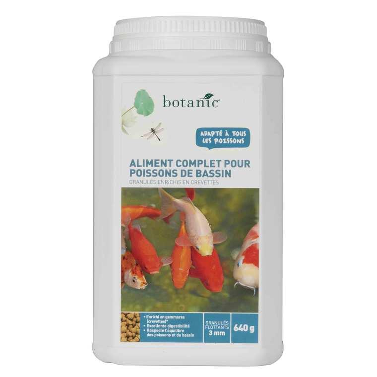 Nourriture pour poissons de bassin Botanic 640 g