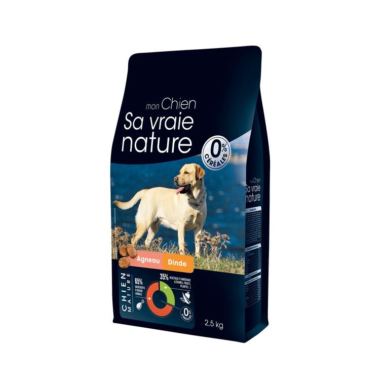 Croquettes Sa vraie nature chien mature - agneau et dinde - 2,5 kg