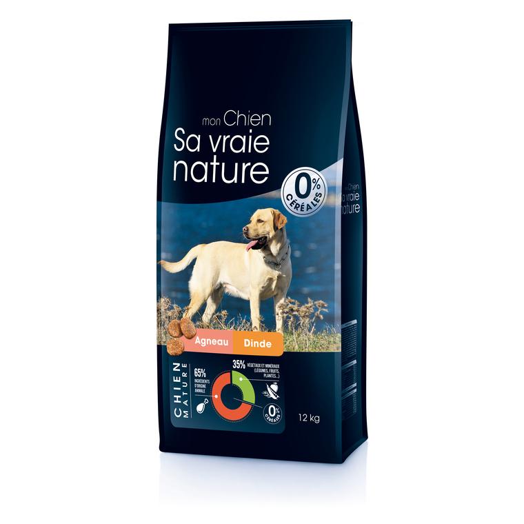 Croquettes Sa vraie nature chien mature - agneau et dinde - 12 kg
