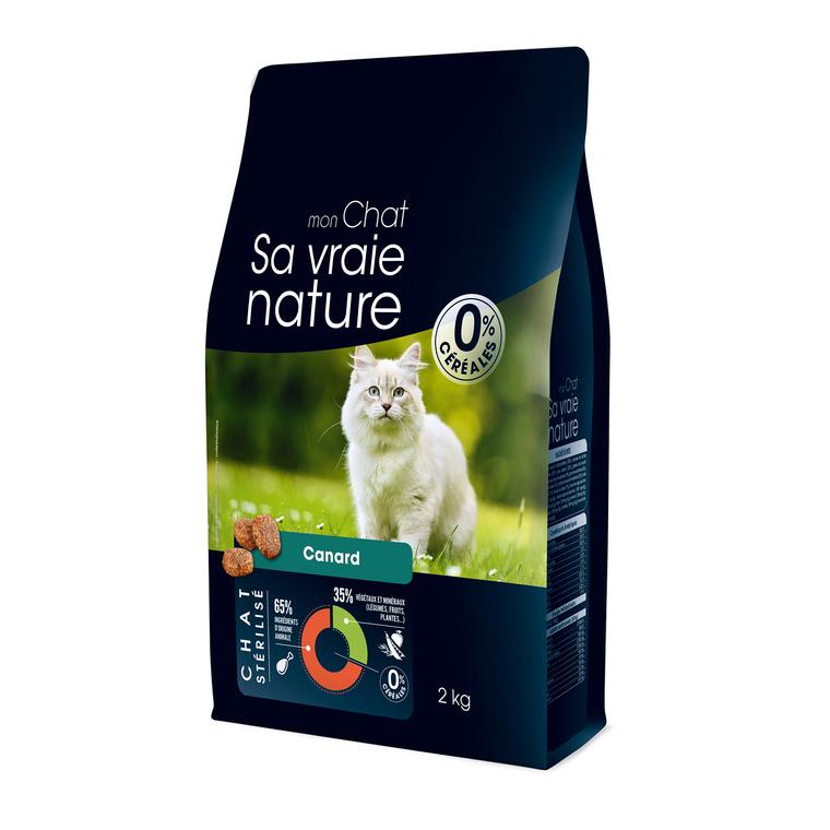 Croquettes Sa vraie nature chat stérilisé - canard - 2 kg
