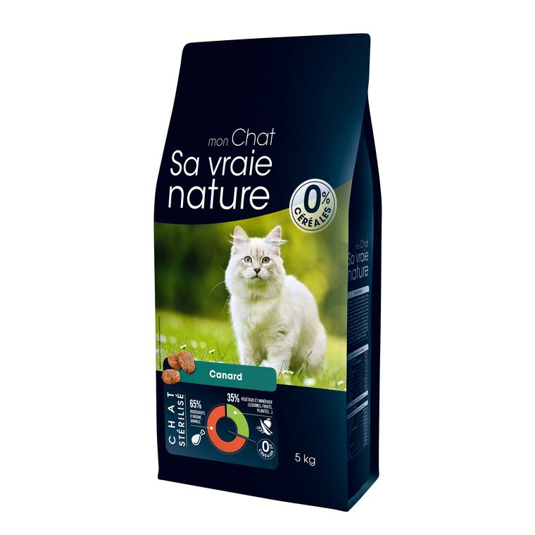 Croquettes Sa vraie nature chat stérilisé - canard - 5 kg