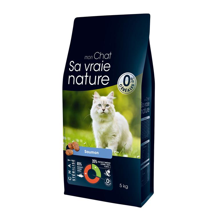 Croquettes Sa vraie nature chat stérilisé - saumon - 5 kg