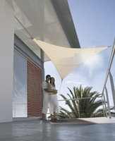 voile ombrage sable 3 6m triangulaire serenity parasols. Black Bedroom Furniture Sets. Home Design Ideas
