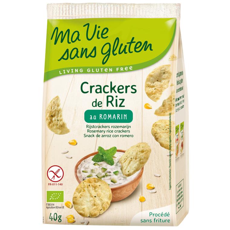 Crackers de riz au romarin bio en sachet de 40 g