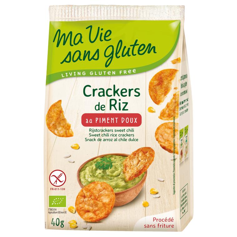 Crackers de riz au piment doux bio en sachet de 40 g