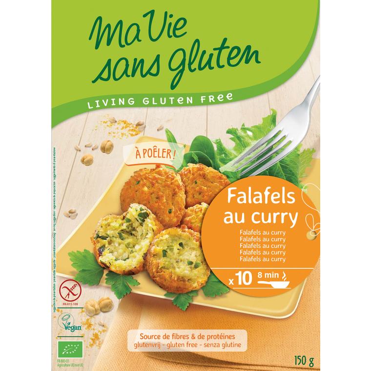 Falafels aux légumes et curry bio en sachet de 40 g