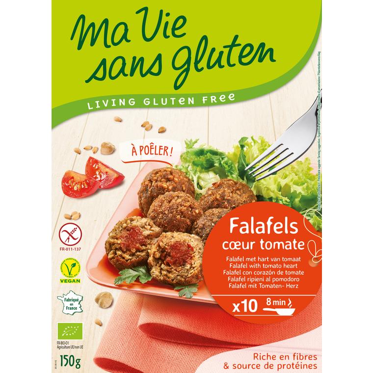 Falafels au cœur de tomate bio en sachet de 40 g