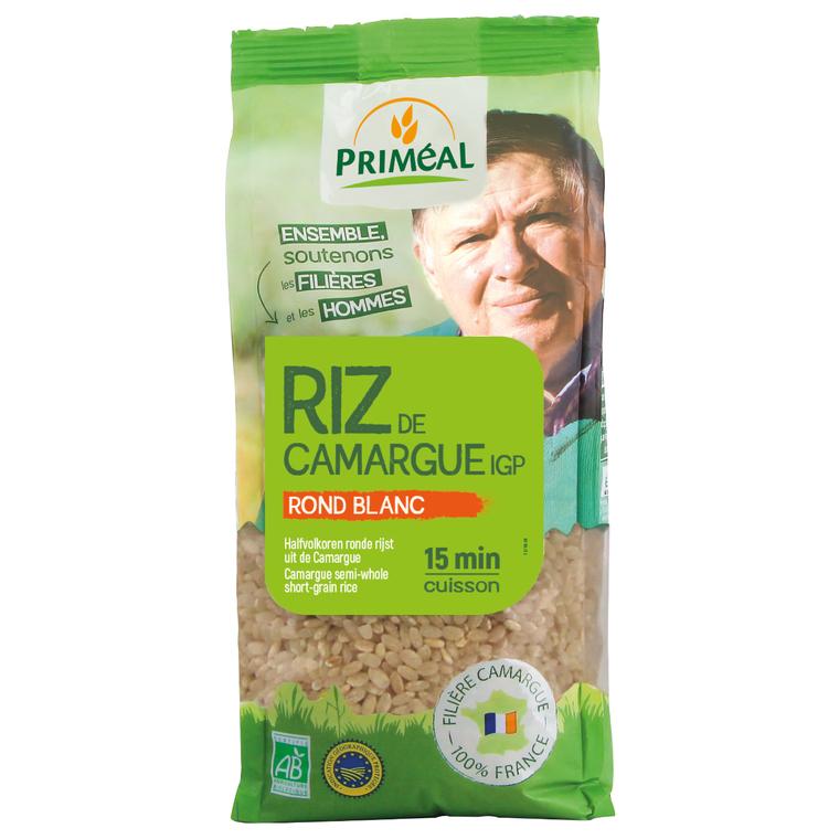 Riz rond blanc bio de Camargue en sachet de 500 g