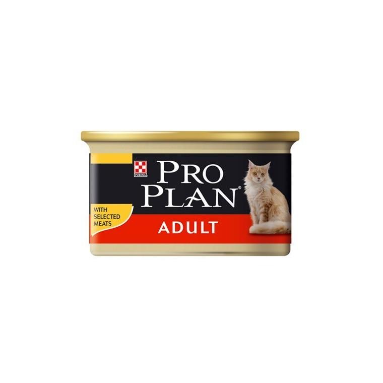 Boîte chat Adulte Poulet Pro Plan 85g