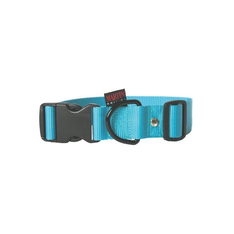 Collier chien réglable 40mm / 50-70cm bleu
