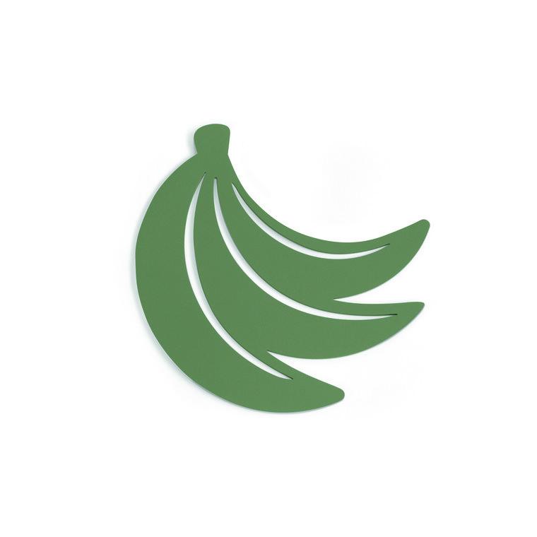 Dessous de plat bananes vert