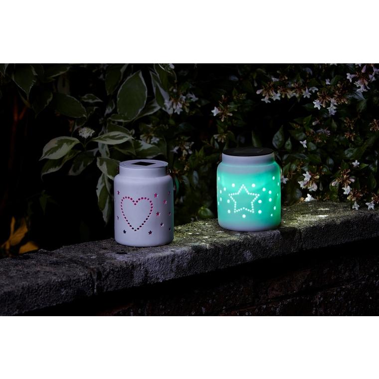 Lanterne Céramique Coeur et Étoiles
