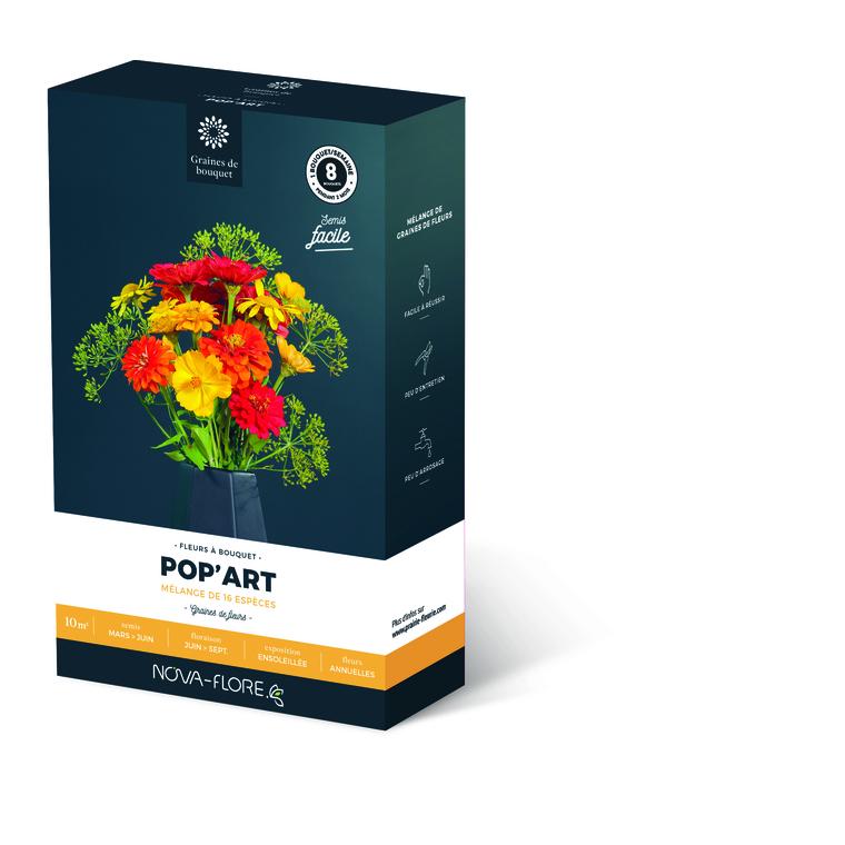 Semences pour fleurs de bouquet pop'art – 10 m2